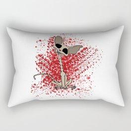 evil cat scarry spooky Kitten skeleton gift goth Rectangular Pillow