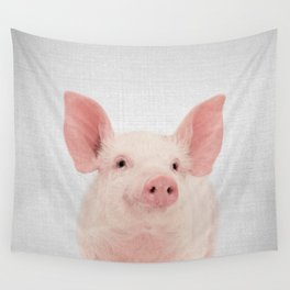 Pig - Colorful Wall Tapestry