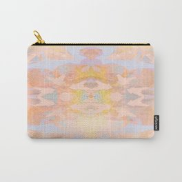 Abstract Zen 2 - Peach and Light Blue Carry-All Pouch