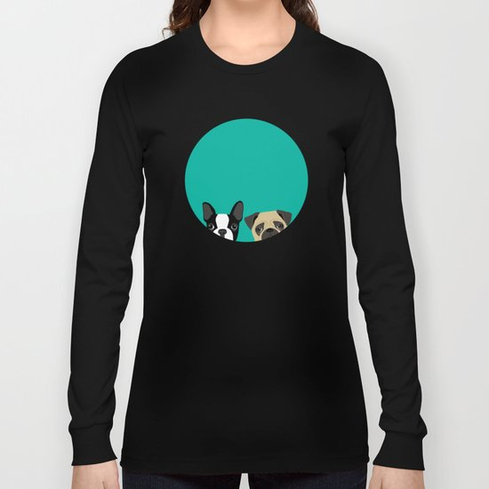 B Terrier & Pug Long Sleeve T-shirt