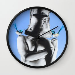 Ned Kelly and the Wrens Wall Clock