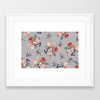 50s Framed Art Prints featuring 50s by Mickaela Correia