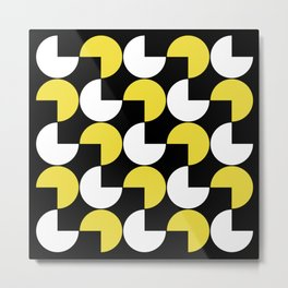 Mid Century Modern Geometric Pattern 804 Metal Print