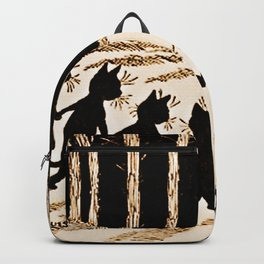 Cats & a Full Moon-Louis Wain Black Cats Backpack