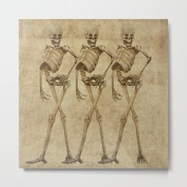 walking skeleton beauties Metal Print