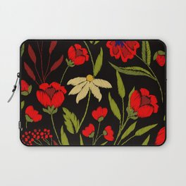 Floral embroidery Laptop Sleeve