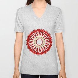 Mandala with colon cancer ribbon Unisex V-Neck