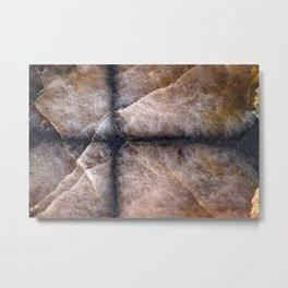 Chiastolite cross stone Metal Print