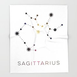 SAGITTARIUS STAR CONSTELLATION ZODIAC SIGN Throw Blanket