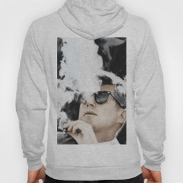 JFK Cigar and Sunglasses Cool President Photo Photo paper poster Color Hoody