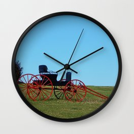 Horse Drawn Wagon Wall Clock