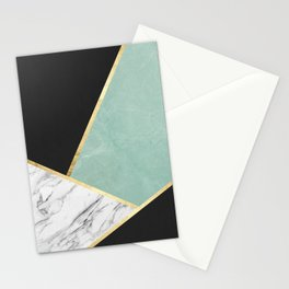 Art with marble V Stationery Cards