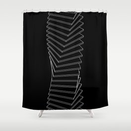 INF_SQRS Shower Curtain