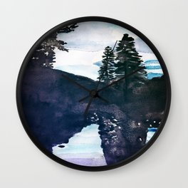 Reflections Watercolor Wall Clock