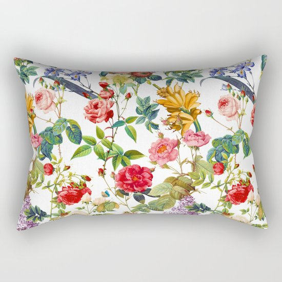 Botanic Flowers Rectangular Pillow