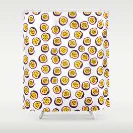 Passion fruit psico Shower Curtain