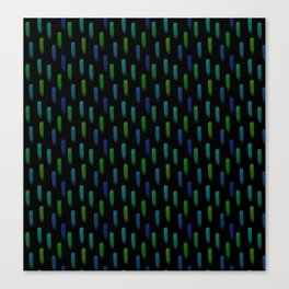 Neon Blue and Green Pattern Canvas Print