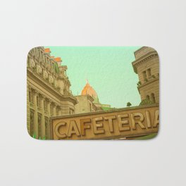 Cafeteria (vintage urban photography) Bath Mat