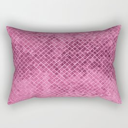 Modern girly pink burgundy geometric faux glitter Rectangular Pillow