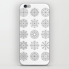 minimalist snow flakes iPhone Skin
