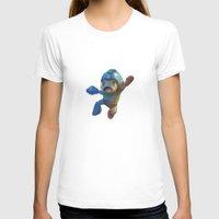 mega man T-shirts featuring Mega Man Jumping by jaimito