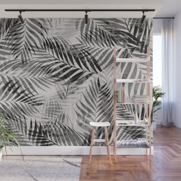 Palm Leaves - Black & White Wall Mural