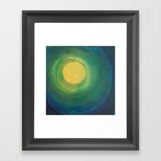 Abstract Moon Framed Art Print