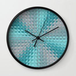 Aqua Reflections Wall Clock