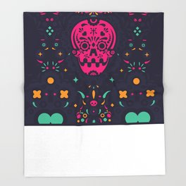 LOS MUERTITOS V01 Throw Blanket