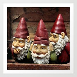 Three Gnomes Art Print