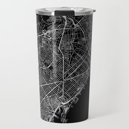 Barcelona Black Map Travel Mug