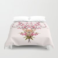 spring Duvet Covers featuring Spring Deer by Robert Farkas