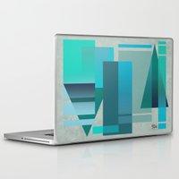 metropolis Laptop & iPad Skins featuring METROPOLIS   blue by Cheryl Daniels