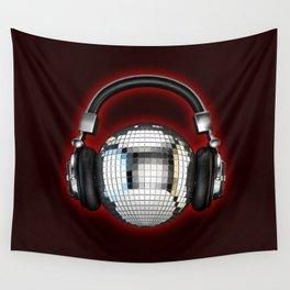 Headphone disco ball Wall Tapestry