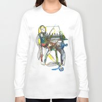 wings Long Sleeve T-shirts featuring Wings by Dawn Patel Art