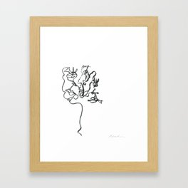 Three Faces One Line Framed Art Print