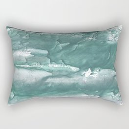 Marine color blurred wash drawing design Rectangular Pillow
