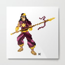 God of War - Karthikeya Pixel Art Metal Print