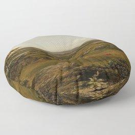 Rocks In New England 1855 By Martin Johnson Heade | Reproduction Floor Pillow