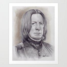 Alan Rickman as Professor Severus Snape Art Print