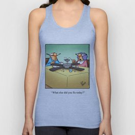 Handyman Home Improvement Spectickles Cartoon Unisex Tank Top