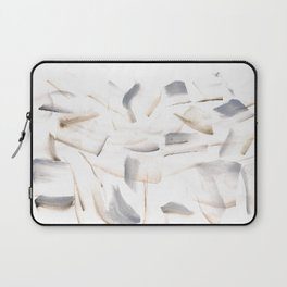 180630 Grey Brown Black Neutral Abstract Watercolour 7 | Watercolor Brush Strokes Laptop Sleeve