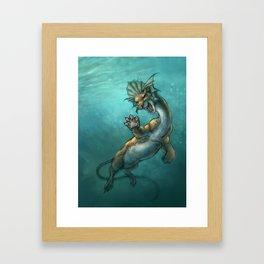 Oddity - Fantasy Sea Beast Framed Art Print