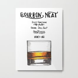 The Drink Collective: Bourbon Neat Metal Print