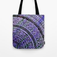 zentangle Tote Bags featuring Zentangle by Doodle Frisson