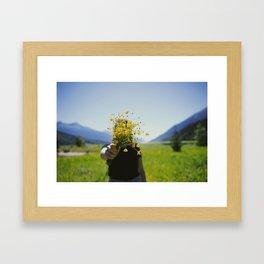 Buttercup Bouquet Framed Art Print