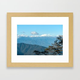 Bhutan: Sunset on Himalaya Framed Art Print