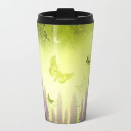 """Forest, flowers and butterflies"" Travel Mug"