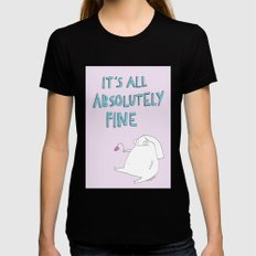 absolutely fine LARGE Black Womens Fitted Tee