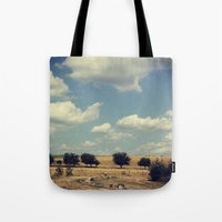 wisconsin Tote Bags featuring Wisconsin Summer by KunstFabrik_StaticMovement Manu Jobst
